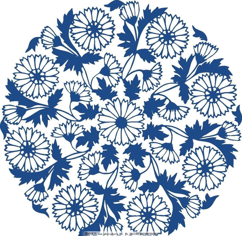 时尚图案 花卉图案 青花瓷图案图片