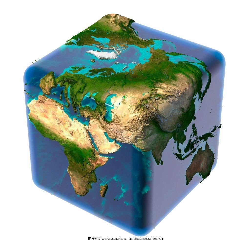 正方体地球图片