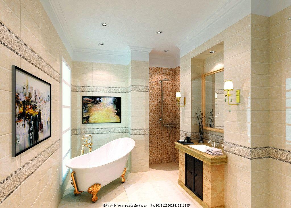 陶瓷效果图        地砖 瓷片 室内效果图 欧式 室内设计 环境设计 设