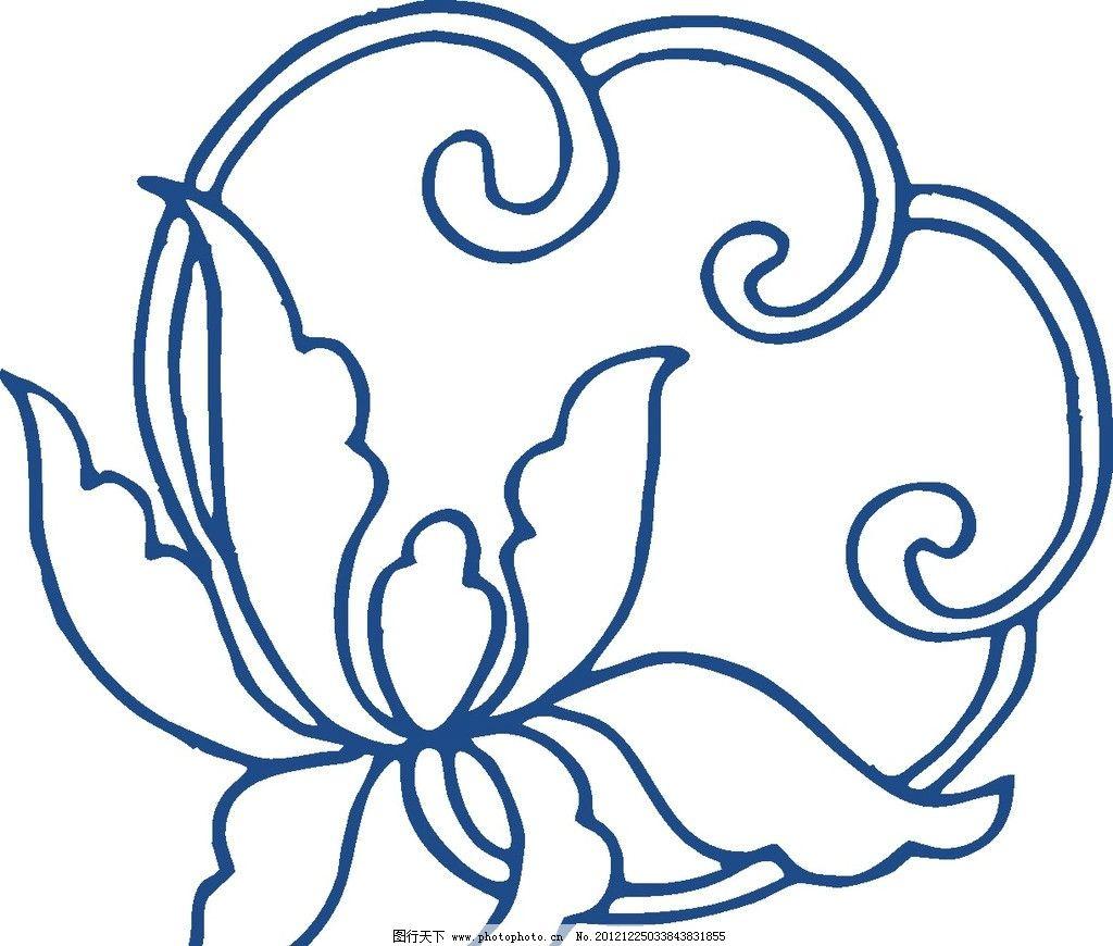 青花瓷花纹 矢量花纹 时尚花纹 手绘花纹 花卉 花矢量 青花瓷图案