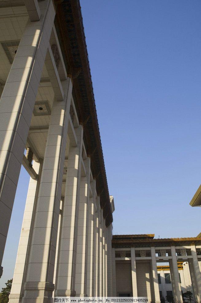 中国国家博物馆 建筑 天安门 北京 广场 蓝天 柱子 建筑摄影
