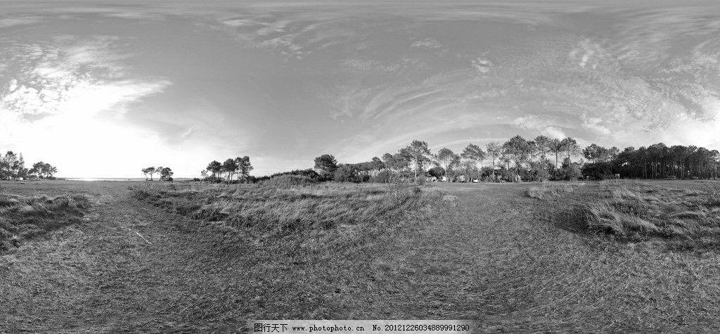 草原风景 黑白 草原 透视 全视图 自然风景 自然景观 摄影 72dpi jpg