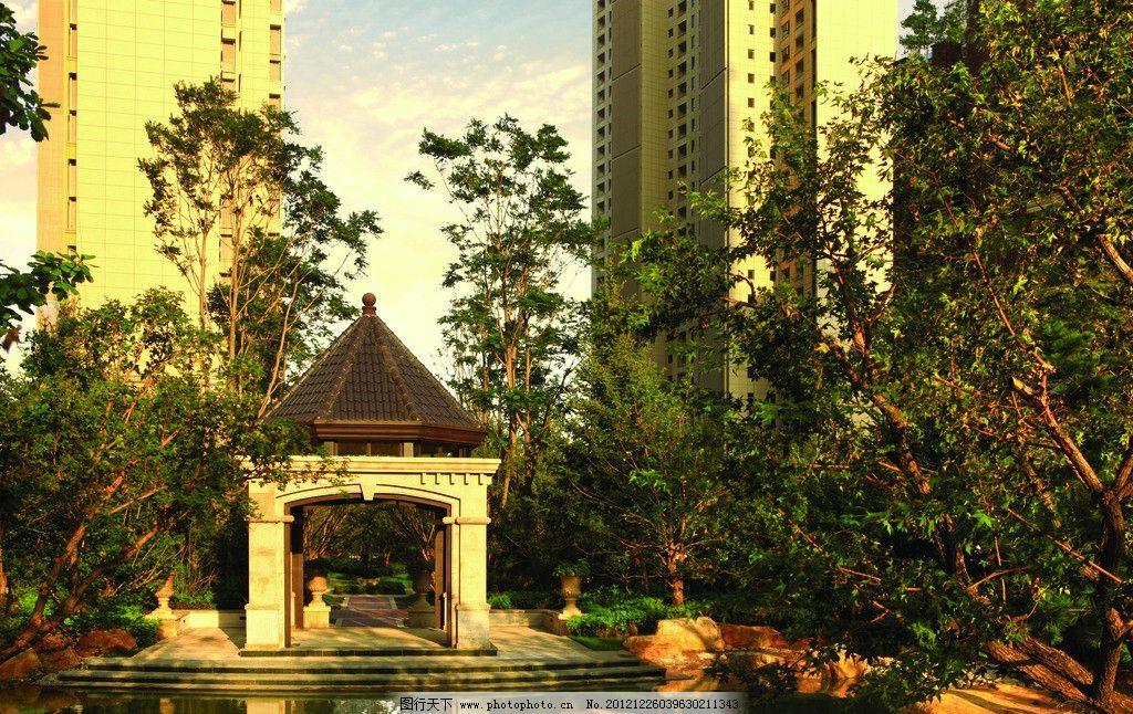 法式欧式皇家园林景观水景 豪宅美景 别墅园林意境图 贵族园林 唯美