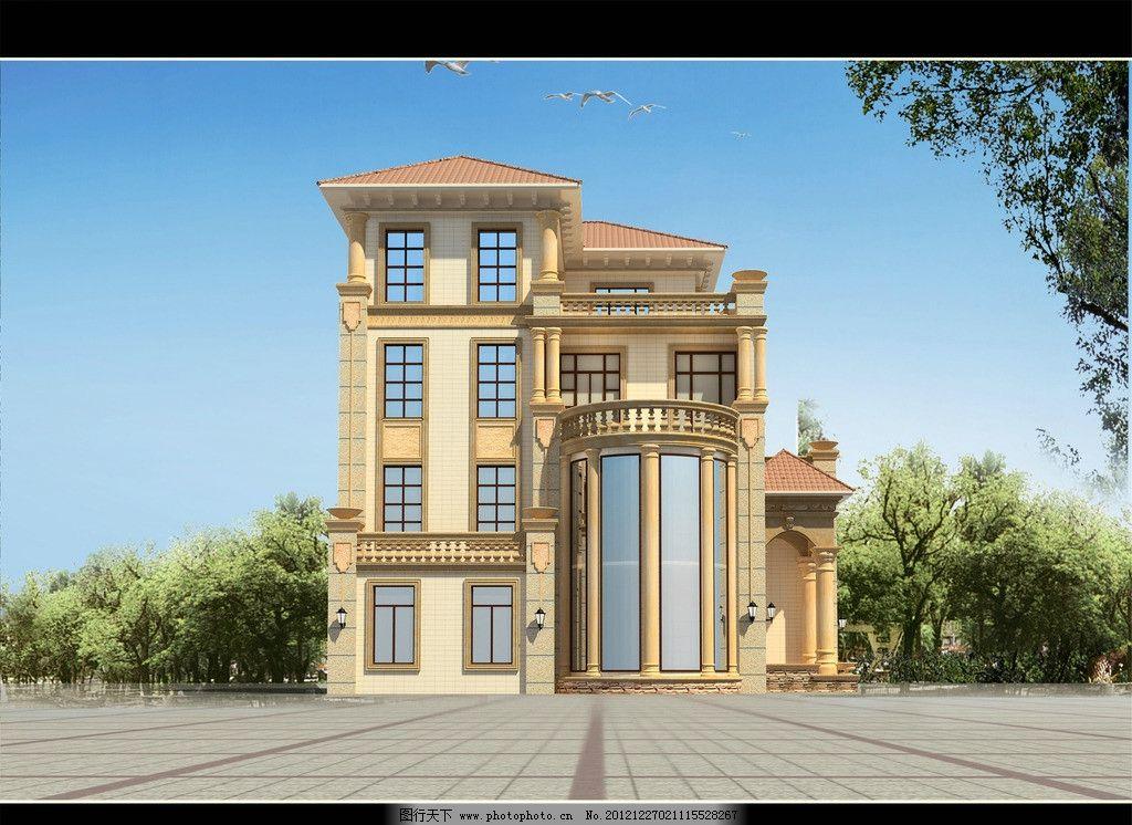 别墅      住宅 设计 3d效果图 房屋 一座别墅外观 3d作品 3d设计 150