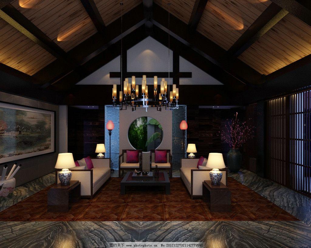 私人酒店 酒店 会所 包厢 中式风格 酒店设计 3d作品 3d设计 设计 300
