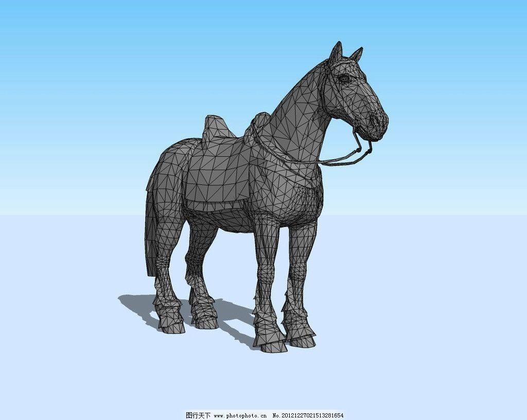 战马3d模型 动物 马匹 马鞍 骏马 三维 立体 造型 精模 其他模型