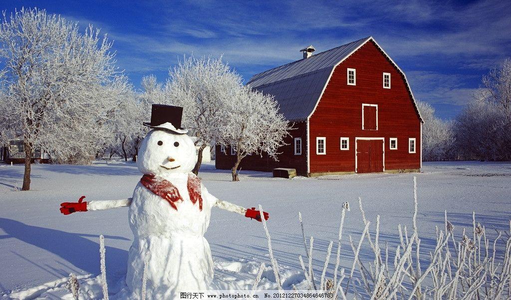 雪地小木屋图片大全
