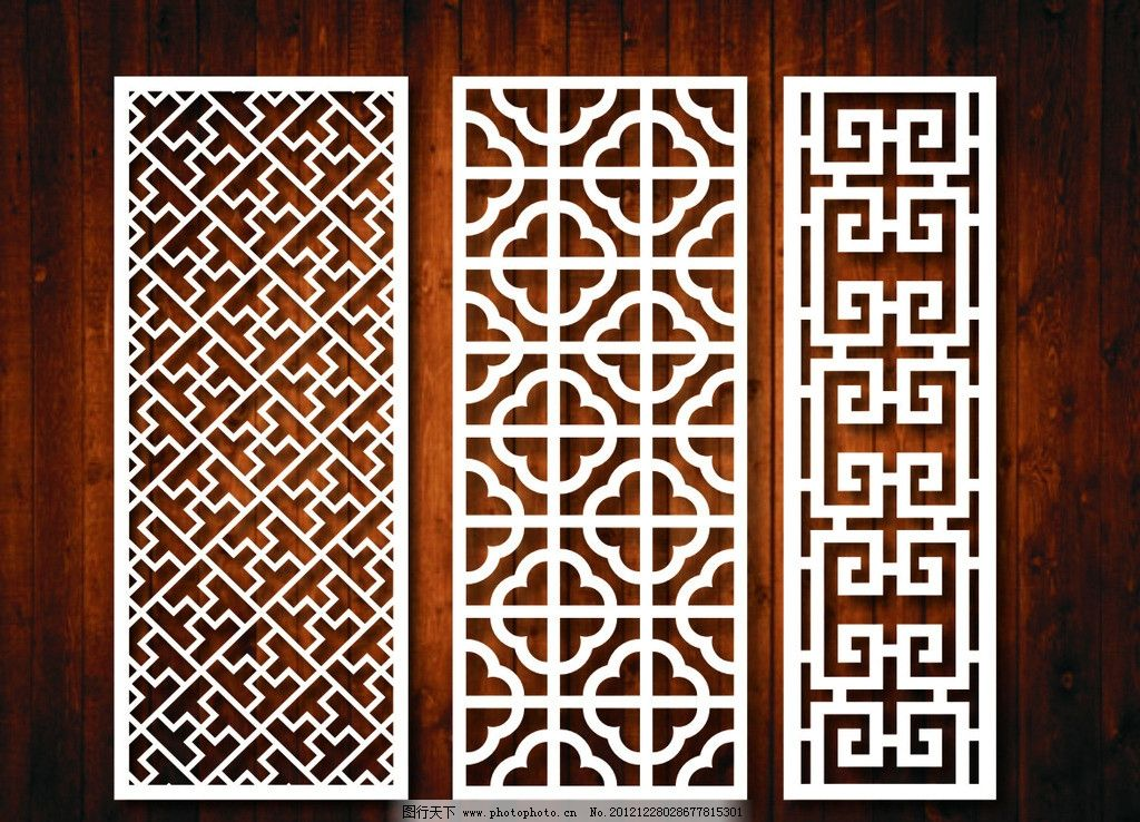 中式 复古 窗花 古典 花格 饭店 中国风 酒店 家居家具 建筑家居 矢量