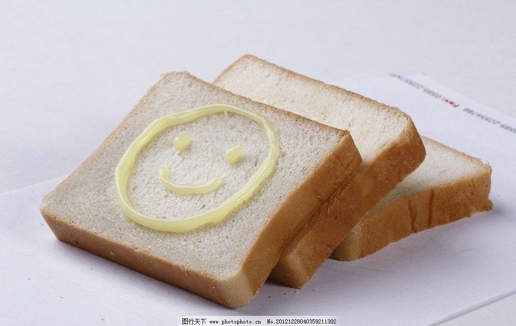 笑脸吐司 面包 笑面 食物 可爱面包 西餐美食 餐饮美食 摄影