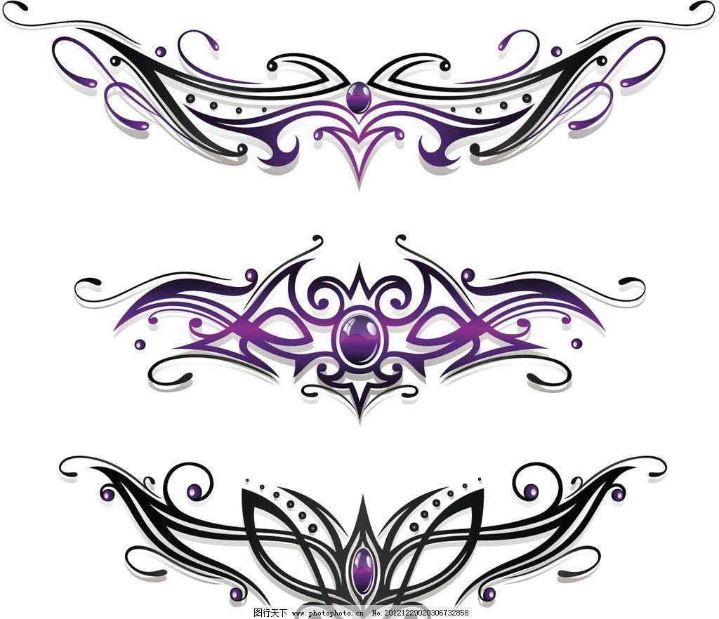 纹身图腾 纹身 图案 图标 刺青 logo 标志 标识 翅膀 花纹花边 底纹