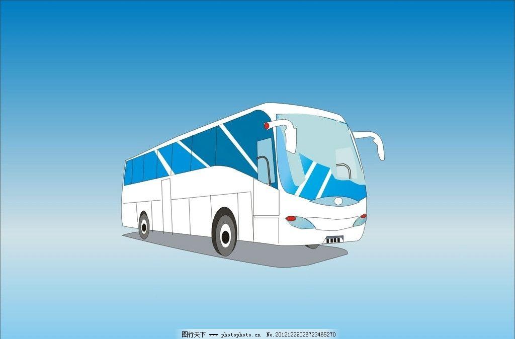 巴士矢量图 汽车 旅游巴士 公交车 大巴 交通工具 现代科技 矢量 cdr