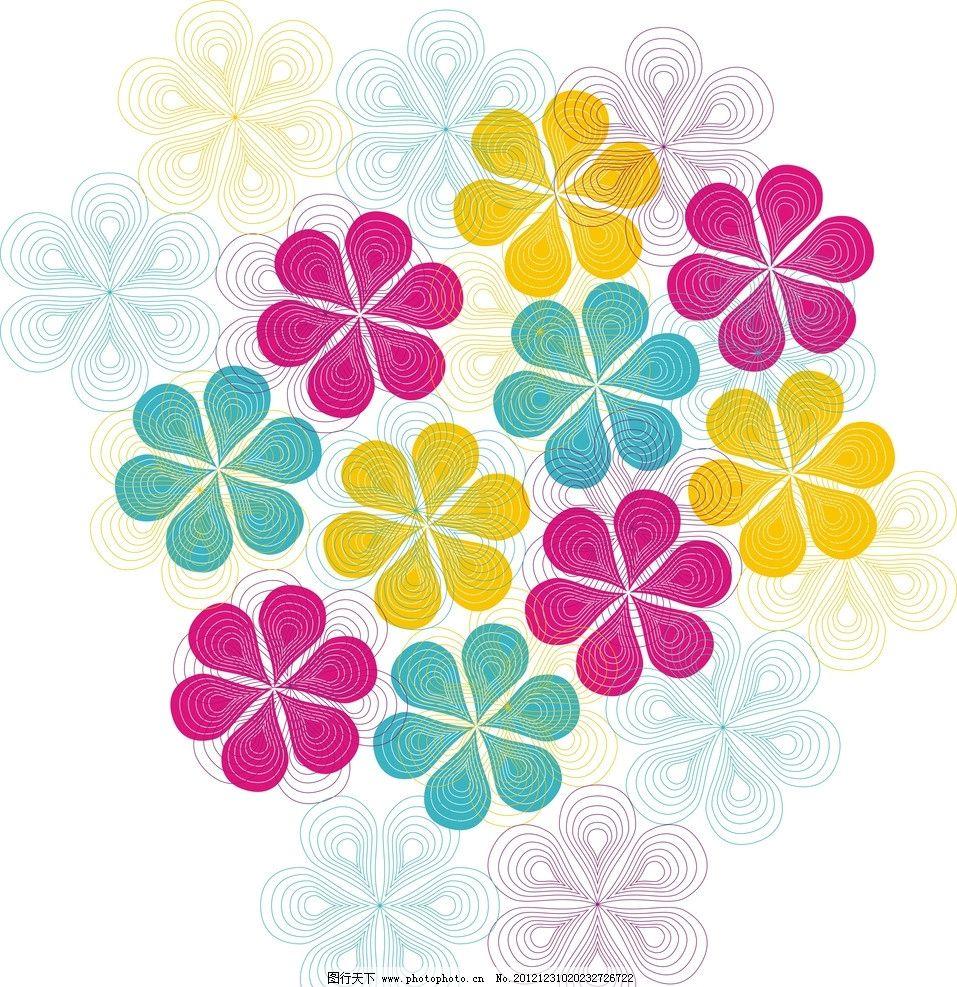 花纹 底纹 边框 背景 花朵 纸巾 家居 墙纸 蓝色 黄色 粉色