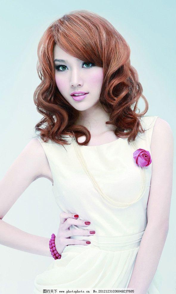 发型模特图片图片